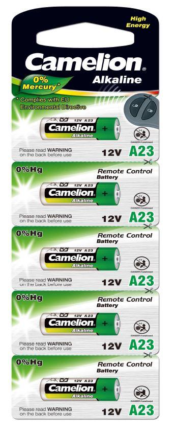 Pila Alcalina LR23A 12V 0% Mercurio (5 pcs) Camelion