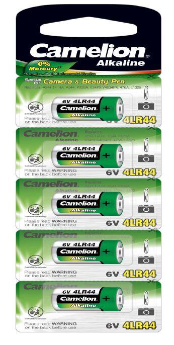 Pila Alcalina 4LR44 6V 0% Mercurio (5 pcs) Camelion