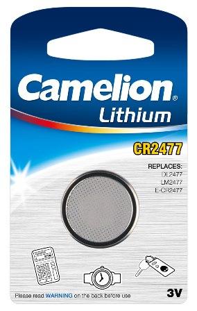 Pila Botón Litio CR2477 3V (1 pc) Camelion