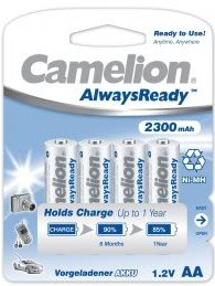 "Recargable ""Always Ready"" AA 2300mAh (4 pcs) Camelion"