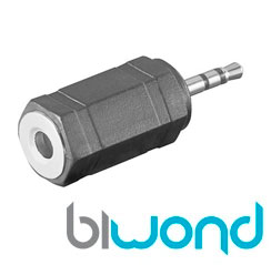 Adaptador Audio Jack 3.5H-2.5M BIWOND