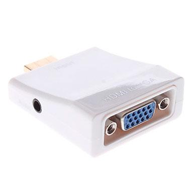 Adaptador HDMI a VGA+Conversor Audio