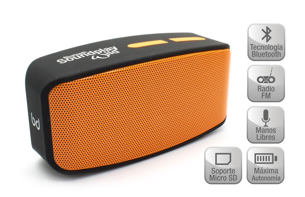 Altavoz SoundPlay Wild Bluetooth Naranja Biwond