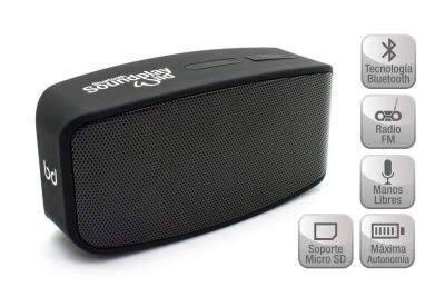 Altavoz SoundPlay Wild Bluetooth Negro Biwond