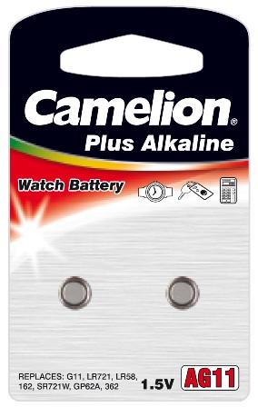 Boton Alcalina AG11/LR721 1.5V (2 pcs) Camelion