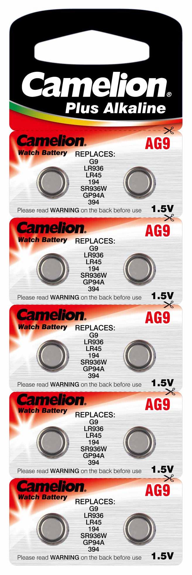 Boton Alcalina AG9/LR936 1.5V (10 pcs) Camelion