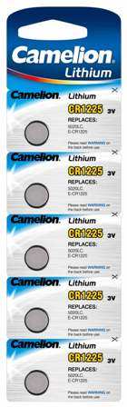 Boton Litio CR1225 3V (5 pcs) Camelion