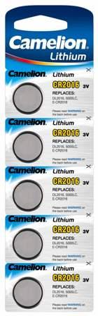 Boton Litio CR2016 3V (5 pcs) Camelion