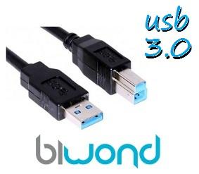 CABLE USB 3.0 IMPRESORA 3M BIWOND