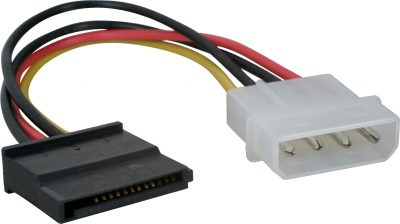 Cable Corriente Adapt. Molex a SATA