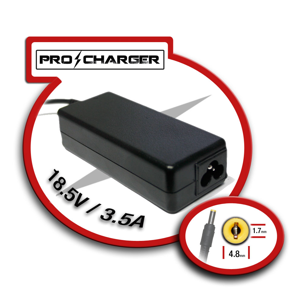 Carg. 18.5V/3.5A 4.8mm x 1.7mm 65w Pro Charger