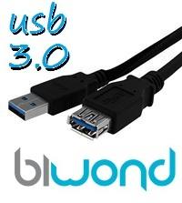 CABLE USB 3.0 3M BIWOND