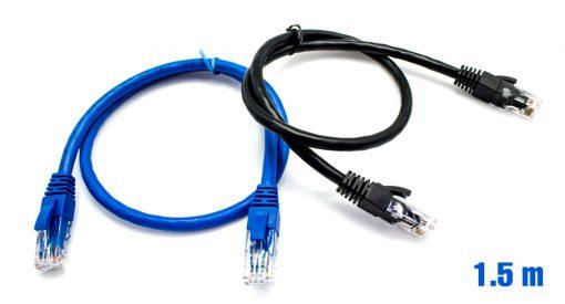 Pack x2 Cable UTP RJ45 24AWG CAT6 1.5m + 50 Bridas Multicolor BI