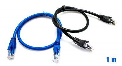 Pack x2 Cable UTP RJ45 24AWG CAT6 1m + 50 Bridas Multicolor BIWO