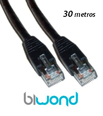 Cable Ethernet 30m Cat 6 BIWOND