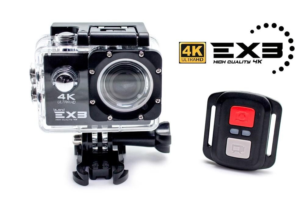 Cámara Deportiva Biwond EX3 4K Ultra HD+WIFI+HDMI+Control Remoto