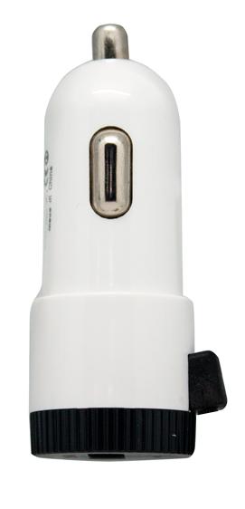 Cargador USB Coche CC/CC 5 V/2.4 A Blanco