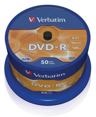 Tarrina DVD-R Verbatim 50 unds.
