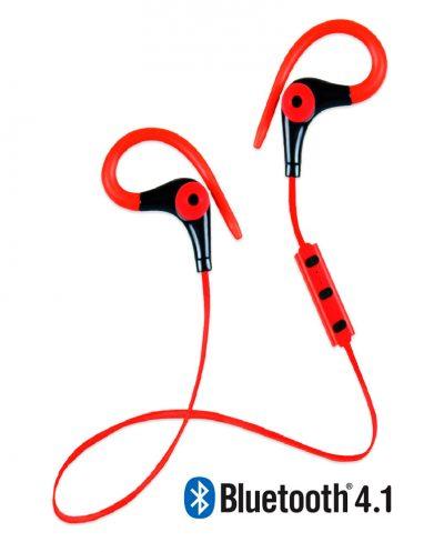 Running Earphones Sports Bluetooth + Micro Biwond Rojo