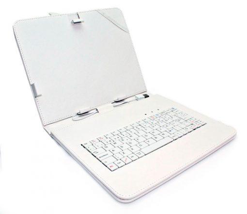 """Funda Tablet Teclado 9"""" Blanca"""