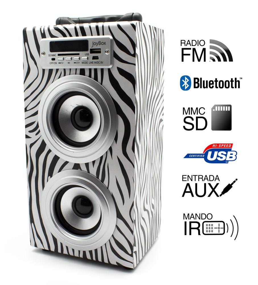 Reproductor JoyBox Bluetooth Zebra Biwond