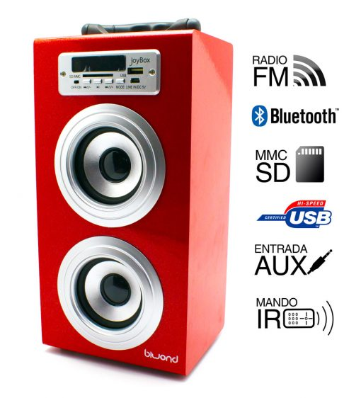 Reproductor JoyBox Bluetooth Rojo Biwond