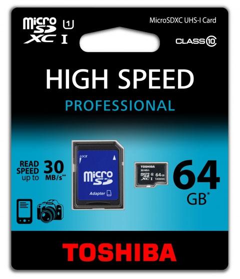 MicroSD 64GB Clase 10 Toshiba