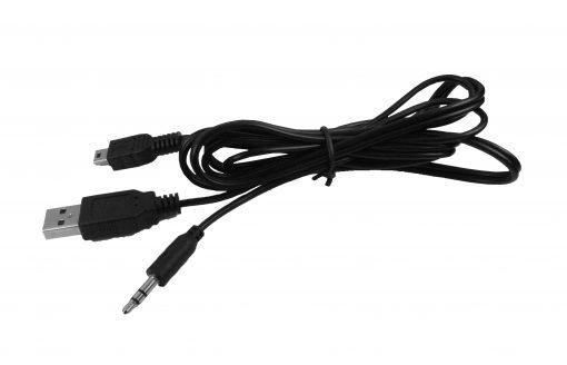 Cable USB - Jack 3.5mm - Mini USB 50cm