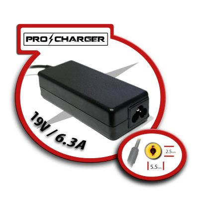 Carg. 19V/6.3A 5.5mm x 2.5mm 120w Pro Charger