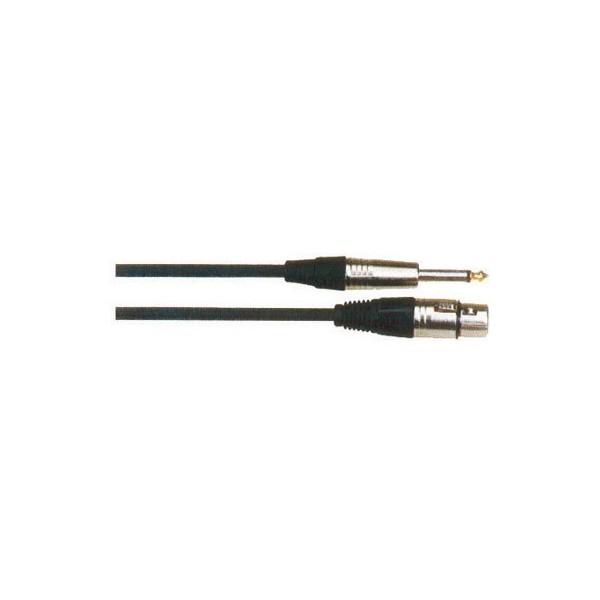 Cable Jack 6,3mm MONO – XLR Hembra 10 metros QABL