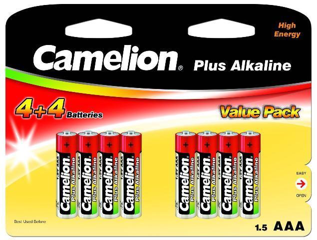 Plus Alcalina AAA 1.5V (4+4 pcs) Camelion