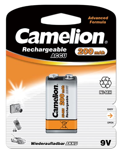 Recargable 9V 200mAh (1 pcs) Camelion