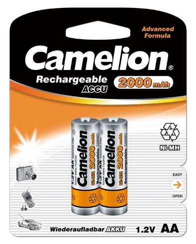 Recargable AA 2000mAh (2 pcs) Camelion
