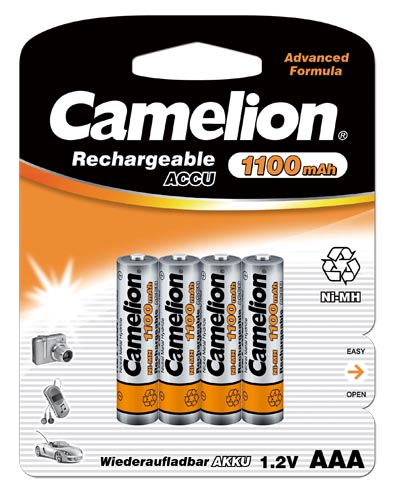 Recargable AAA 1100mAh (4 pcs) Camelion