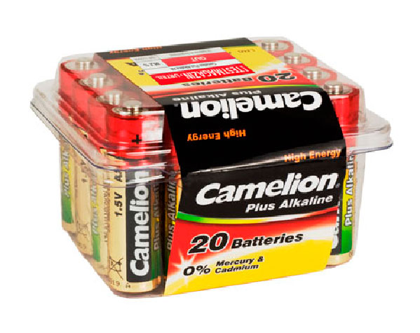 Plus Alcalina AA 1.5V (20 pcs) Camelion