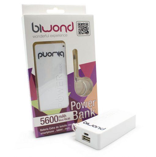Power Bank 5600mAh Blanco Biwond