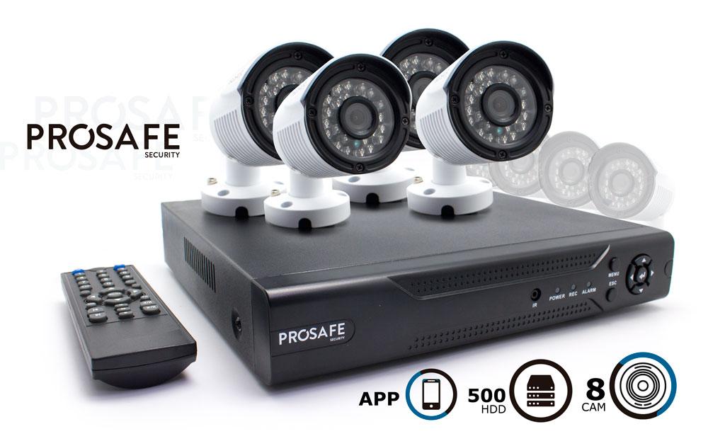 Kit Seguridad Prosafe 8 Camaras + HDD 500Gb