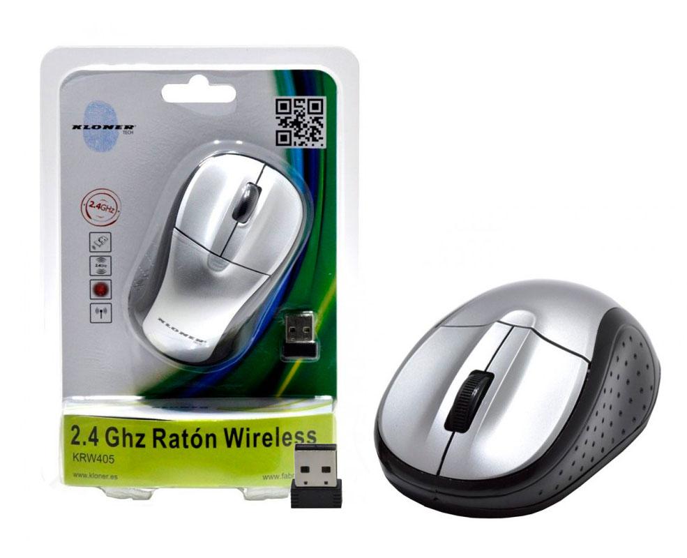 Ratón 2.4Ghz Wireless Plata Kloner