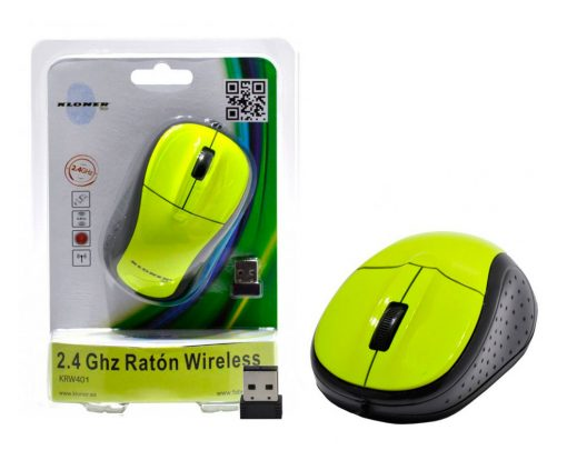 Ratón 2.4Ghz Wireless Verde Fluorescente Kloner
