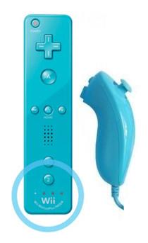 Mando Wii Plus Celeste + Nunchuk