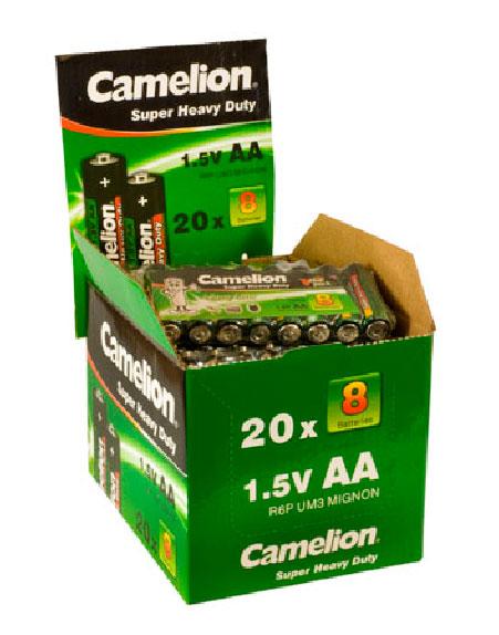 Salina Verde AA 1.5V (20 packs * 8 pcs) Camelion