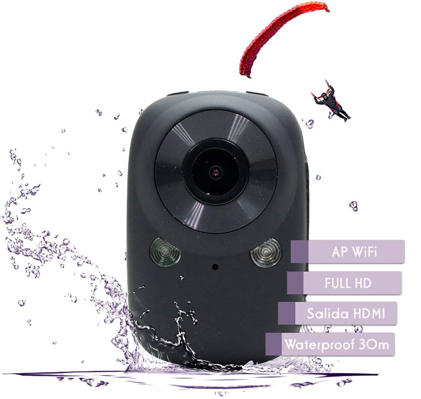 Sports Cam WiFi 1080P Wifi Waterproof 30m