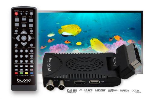 Mini TDT SCART HD Reproductor-Grabador DVB-T2 TDT Sound BIWOND