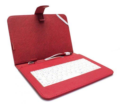 """Funda Tablet Teclado 7"""" Roja"""
