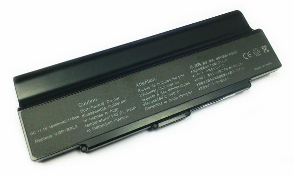 Sony VAIO 10400mAh VGP-BPL2A/S BPL2C/S BPS2A/S BPS2C/S (Negra)