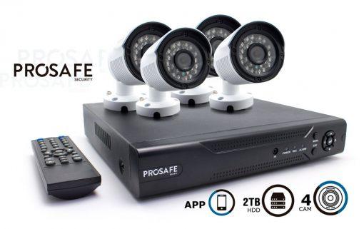 Kit Seguridad Prosafe 4 Camaras (720p) + HDD 2TB
