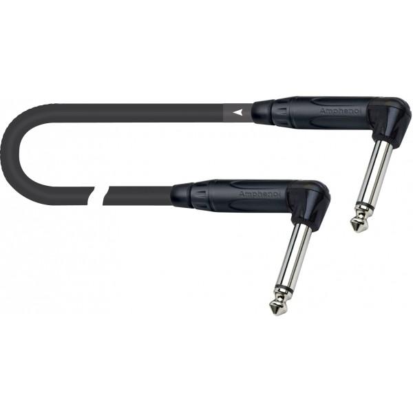 Cable Jack 6,3mm MONO 0,2 metros QUICK LOCK