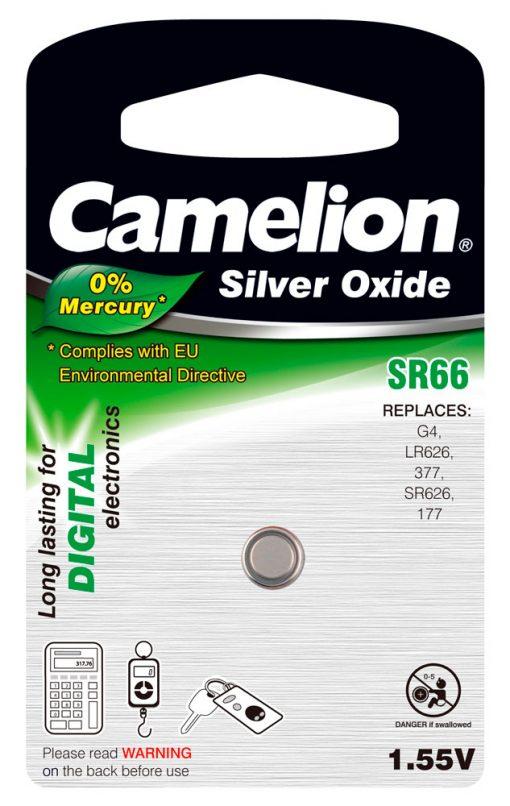 Boton Oxido plata SR66W 1.55V 0% Mercurio (1 pcs) Camelion