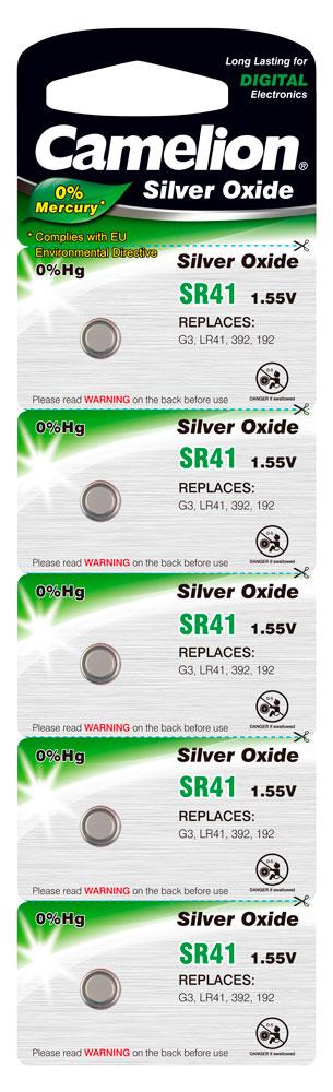 Boton Oxido plata SR41W 1.55V 0% Mercurio (5 pcs) Camelion
