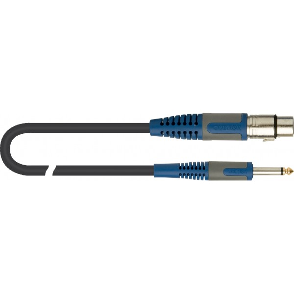 Cable Jack 6,3mm MONO – XLR Hembra 6 metros QUICK LOCK